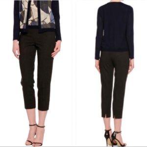$495 Piazza Sempione Brigitte Cropped Black Pants
